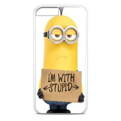 Amazon.com: Minion Im With Stupid iPhone 6S Case White: Cell Phones & Accessories