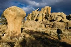 The Vedauwoo trails in Cheyenne, WY are great for the thrill-seeking rock climber!