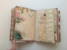 DECORATE TOP OF PAGE...THEN MAKE A POCKET FOR THE CORNER..