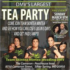 If you are in MD and can get to this free event GO. See why.so many people  nationwide and globally are joining the SKINNTEA MOVEMENT!  #skinntea #nohustlenoempire #wealthconnection #wewinning #workfromhome #weeklypay #motivation #motivational #maryland #entrepreneur #wakeupandwin #healthylifestyle #iasotea #skinnteanmycup #organic #kimkardashian #business #skinnteamovement #womenempoweringwomen #firstclass #homebasedbusiness #ready2win #love #weightlossmotivation #lose5poundsin5days…