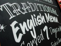 Lovely hand-lettered menu board | 30 Mind-blowing Hand Lettering Examples