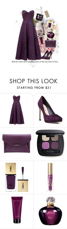 """""""Purple ecstasy ."""" by em-styles-16 on Polyvore featuring Jill by Jill Stuart, Via Spiga, Givenchy, Bare Escentuals, Yves Saint Laurent, Too Faced Cosmetics, Calvin Klein, Christian Dior and Agent 18"""