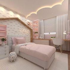 Plush teen girl bedrooms ideas for that exciting teen girl bedroom decor, image suggestion 1627884109 Kids Bedroom Designs, Room Design Bedroom, Room Ideas Bedroom, Home Room Design, Baby Room Decor, Bedroom Decor, Bedroom Lamps, Bedroom Lighting, Girls Room Design
