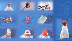 Una forma de reciclar los bidones de agua de 5 litros es recuperar el cuello y la tapa como cierre hermético para bolsas de plástico.