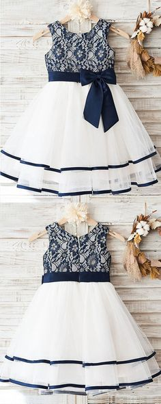 Fashion Lovely Navy Lace Sleeveless Round Neck Flower Girl Dresses With Bow Sash Fashion Lovely Navy Lace Sleeveless Round Neck Flower Girl Dresses With Bow Sash Flower Girl Dresses Bow Dresses Fashion Flower Girl lace Lovely Navy Neck sash Sleeveless Vintage Flower Girls, Cute Flower Girl Dresses, Tulle Flower Girl, Little Girl Dresses, Girls Dresses, 50s Dresses, Dresses Online, Trendy Dresses, Elegant Dresses
