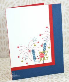 Happy 4th Card by Nichole Heady for Papertrey Ink (May 2013)