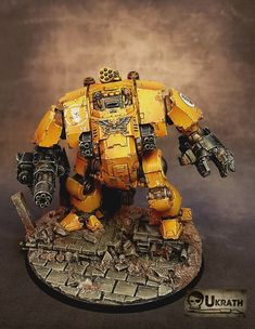 The Internet's largest gallery of painted miniatures, with a large repository of how-to articles on miniature painting Warhammer Fantasy, Warhammer 40000, Combat Armor, Imperial Fist, Warhammer 40k Miniatures, Fantasy Miniatures, Space Marine, Marines, Cool Art