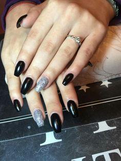 Black&silver nails ❤