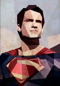 Man-of-Steel---Cubism-Art-by-Luis-Huertas