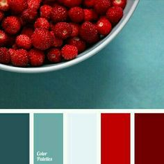 Strawberry color of this palette is successfully combined with blue-turquoise. Use this solution when choosing clothes for the New Year and you will look i. Best Picture For wedding color palette mars Red Colour Palette, Color Palate, Colour Palettes, Color Red, Kitchen Colour Schemes, Kitchen Colors, Red Kitchen, Kitchen Ideas, Kitchen Paint