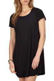 tina tshirt dress, BLACK