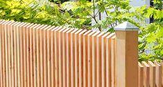 Lärchenzaun mit vertikaler Lattung für die Schweiz, Österreich, Italien und Deutschland, erhältlich bei der zaunfabrik-natur in Emmendingen