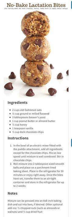 no-bake lactation bites #recipe