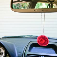 DIY Felt Flower Air Freshener For Your Car Use with Chapter 1 of Between Earth and Sky!
