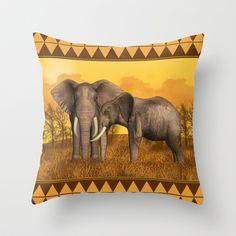 Elephants Throw Pillow by Moonlake Designs - $20.00