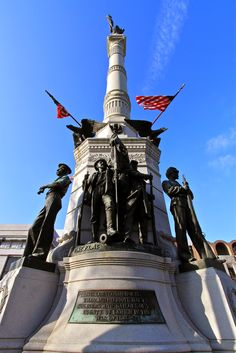 Soldiers' and Sailors' Monument in Center Square, Allentown, PA downtown.
