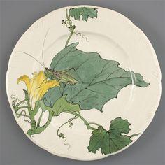 *Service Lambert-Rousseau: assiette plateAprès 1884. Période Leboeuf-Milliet et Cie (1841-1875)
