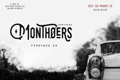 Monthoers Typeface 2.0 by Swistblnk Design Std. on @creativemarket