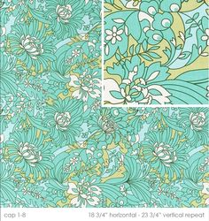AB34 Wildflowers in turquoise by Amy Butler