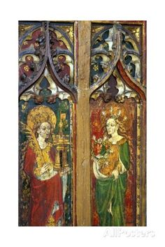 saints-barbara-and-cecilia-detail-of-the-rood-screen-st-mary-s-church-north-elmham-norfolk-uk.jpg (325×488)