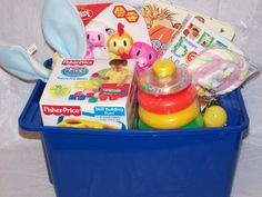 Easter basket for a one year old holidays pinterest easter babys 1st easter basket change a few items and this makes a great year round negle Gallery