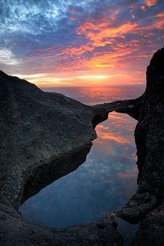 Atardecer en la costa de Gran Canaria. Impresionante fotografía de Daniel Montero!