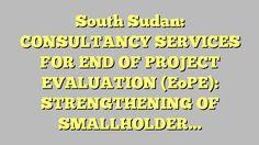South Sudan ConsultancySmart Nutrition Survey