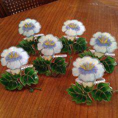 Metal Flower Napkin Rings #Unbranded