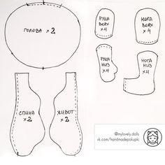 Авторские текстильные куклы ручной работы