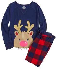 JUSTICE Girls Reindeer Pajamas Pajama Set, NEW, 5 6 7 16 18 Christmas | eBay