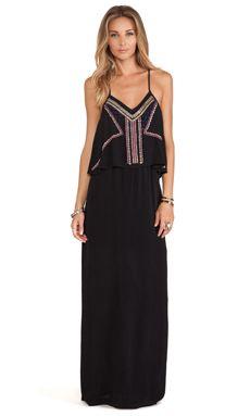 78529ab5dcd Tularosa Josephine Maxi Dress in Black Beach Bunny