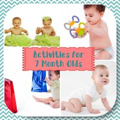 Developmental Activities for Your 7 Month Old A is for Art This activity will help your baby learn fine motor and sensory skills Put your baby in their high chair Place a sheet of colored construction paper on their tray, along with a plastic cup of water Give them a child size paint brush. Show …