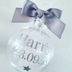 Check out this item in my Etsy shop https://www.etsy.com/uk/listing/482689249/personalised-bauble-christmas-tree