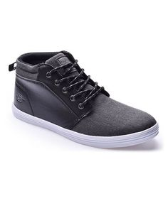 Another great find on #zulily! Black Contrast Mid-Top Sneaker #zulilyfinds