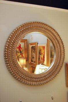 Home Tour A Fun And Funky Seattle Abode Round Mirrors Gold Ayers Graces Online Antique