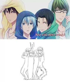 Kuroko no basket funny | see you next week pose /// I can't!! Please!! Midorima and Kagami... shit... XD