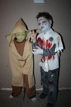 Halloween Costumes DIY Yoda And Zombie Boy
