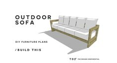 """It's official… you need an outdoor living space for the summer months ahead, so go for it and build a super stylish sofa and solve your seating woes in just a few hours… I promise you will be so happy you did and so will I when you share your success with all of us … Continue reading """"Free DIY Furniture Plans // How to Build an Aegean Outdoor Sofa"""""""