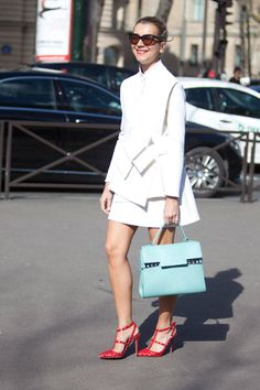 2e7ec77b730 Street Style Paris Fashion Week - Street Style Photos from PFW - of course  the Valentino