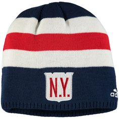 1bc19d25977 Youth New York Rangers adidas Navy White NHL 2018 Winter Classic Knit Beanie