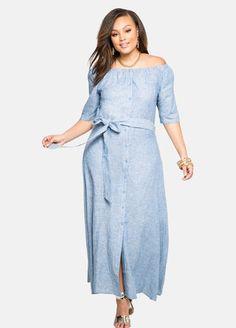 Off-Shoulder Linen Maxi Dress Off-Shoulder Linen Maxi Dress