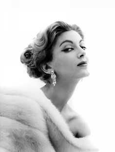 Fashion model Carmen Dell'Orefice in a 1956 photo by Dan Wynn More