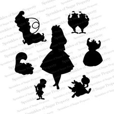 Alice in Wonderland Silhouette, Alice in Wonderland Silhouettes on Etsy, $5.00