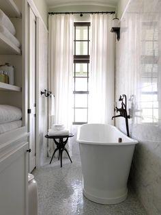 Long narrow bathroom remodel ideas view full size long and narrow bathroom design small narrow bathroom . Laundry In Bathroom, White Bathroom, Modern Bathroom, Master Bathroom, Bathroom Interior, French Bathroom, Classic Bathroom, Basement Bathroom, Bathroom Curtains