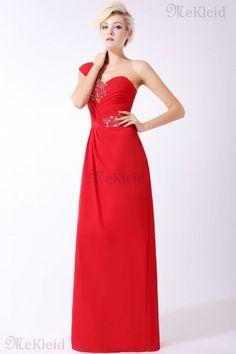Prinzessin Reißverschluss bodenlanges luxus formelles Abendkleid mit Kristall - Bild 1