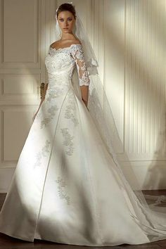 Google Image Result for http://tesbuy.com/Public/Uploads/Products/20120214/Satin%2520A%2520Line%2520Princess%2520Ivory%2520Wedding%2520Gowns%2520With%2520Lace%2520Sleeves.jpg