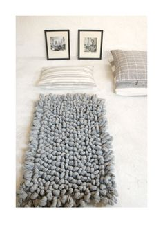 Image Of Wool Shag Rug Hand Woven Palomita Cream 4x6 Ft