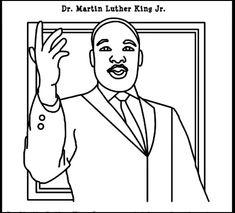 Printable Martin Luther King coloring page. Free PDF download at ...