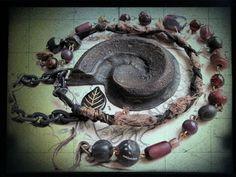 Nautilus. Salvage Wood Victorian Tribal Necklace. Cool!  #LiquidGoldSalvagedWood