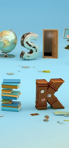 Curiosity is the key: 3D Typography by Noelia Lozano